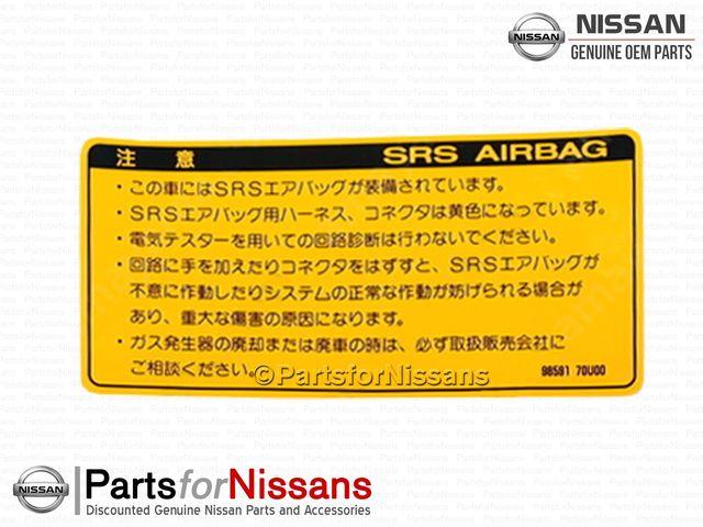 JDM Nissan Skyline R32 R33 GTR R32 GTS4 GTST Airbag Warning Decal - Nissan (98591-70U00)