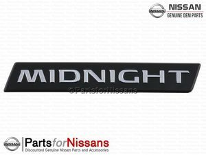 Titan Tailgate MIDNIGHT Nameplate - Nissan (93495-9FT0C)