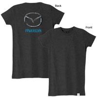 Women's Mazda Distressed T-Shirt - Mazda Marketplace (mm0020)