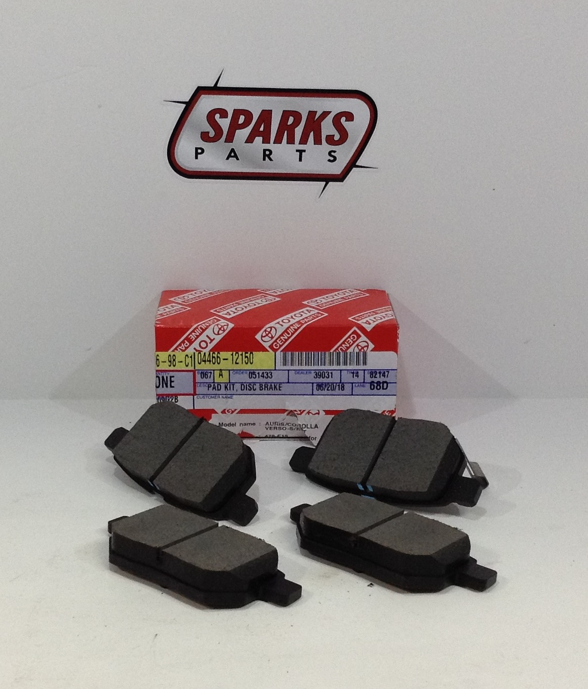 OEM (stock) Rear Brake Pads - Toyota (0446612150)