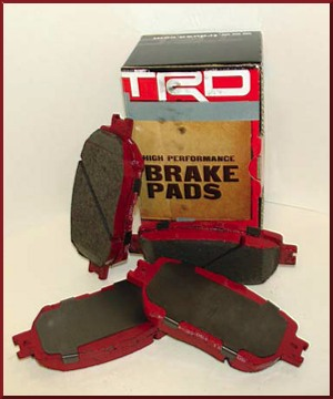 TRD High Performance Brake Pads - Rear - Toyota (ptr0989110)