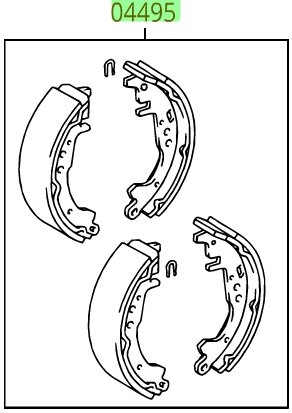 OEM (stock) Rear  Brake Shoes - Toyota (0449552121)