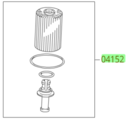 Genuine Toyota Oil Filter Element & O-ring - Toyota (04152-YZZA6)