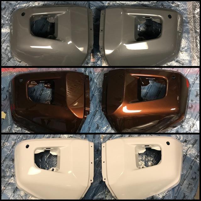 3rd Gen Tundra Front Paintable Bumper End Caps - Custom (PKTUNFR)