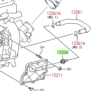 PCV Valve, OEM - Toyota (1220437010)