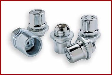Clear Chrome Wheel Locks - Factory Alloy - Toyota (0027600901)