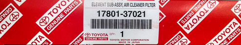 2 Pack of Genuine Toyota Air Filters - Toyota (17801-YZZ12-2)