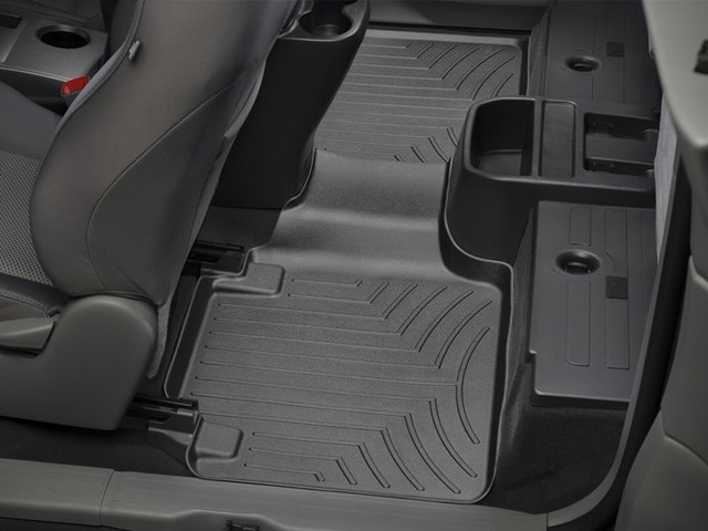 2012-2015 Tacoma Access Cab with Rear Seat Center Storage, 2nd Row Floor Liner - Black - Toyota (440215TACO)