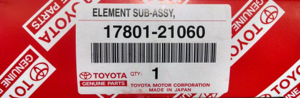 Genuine Toyota Air Filter - Toyota (17801-21060)