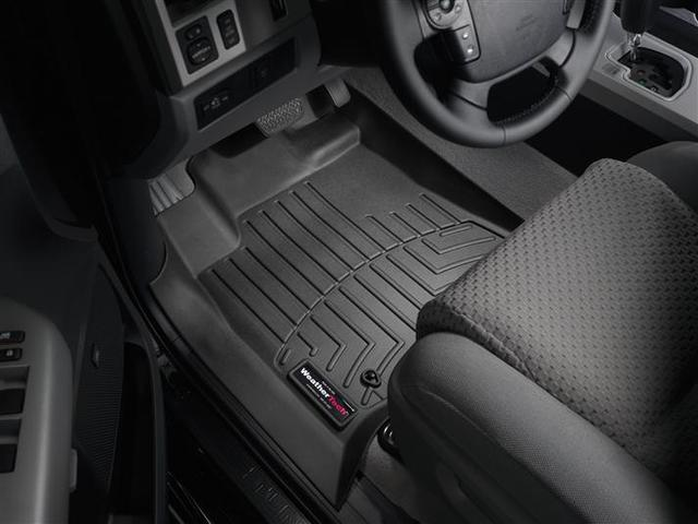 2007-2011 Tundra Double Cab 1st Row Floor Liners - Black - Toyota (442771DC)