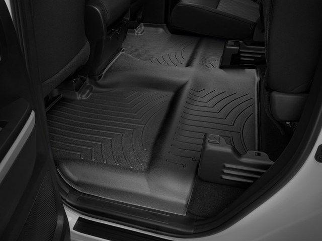 2014-2019 Tundra Double Cab without Under Seat Storage 2nd Row Floor Liner - Black - Toyota (440939)