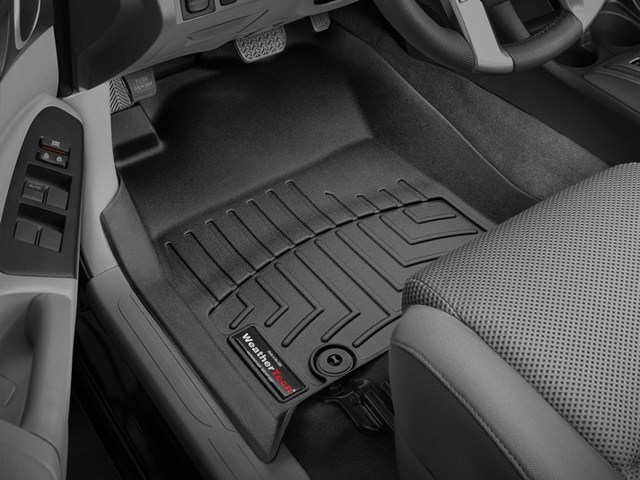 2012-2015 Tacoma Double Cab 1st Row Floor Liners - Black - Toyota (446551)