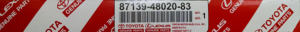 Filter - Toyota (87139-48020-83)