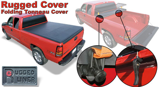 2016 - 2019 Tacoma 5' Bed, Soft Trifold Tonneau Cover by Rugged Cover - Toyota (FCT-516)