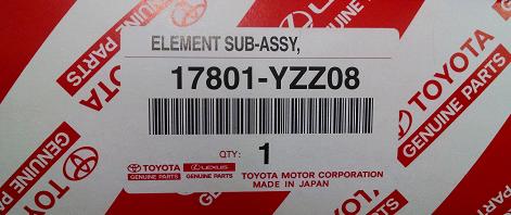 Element Sub-Assembly Ai - Toyota (17801-YZZ08)