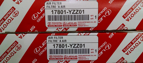 2 Pack of Genuine Toyota Air Filters - Toyota (17801-YZZ01-2)