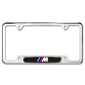BMW M LOGO LICENSE PLATE FRAMES - POLISHED STAINLESS STEEL - BMW (82-12-0-010-405)
