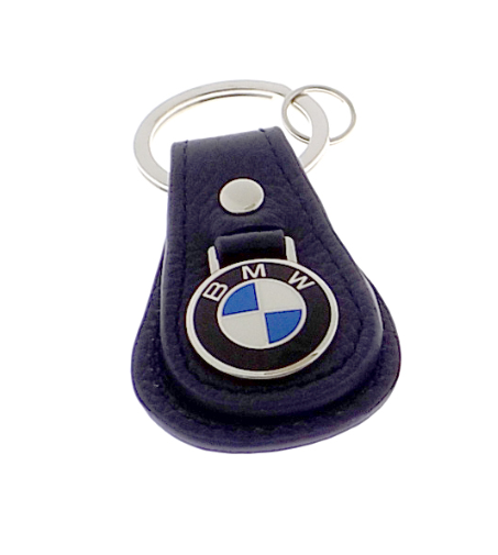 BMW LEATHER TEARDROP KEYCHAIN - BLUE - BMW (80-23-0-408-541)