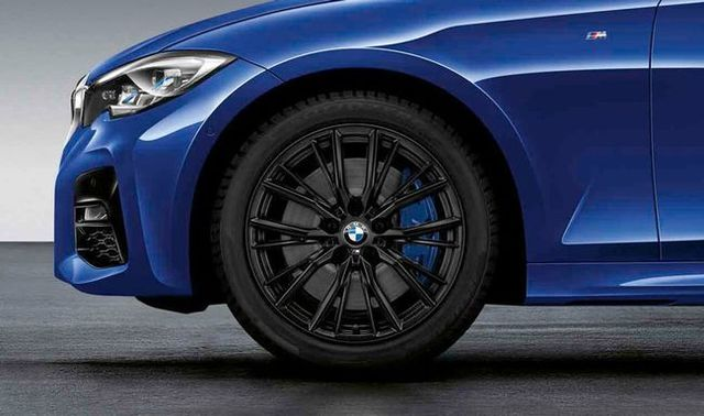BMW M PERFORMANCE 18 WINTER WHEEL & TIRE 796M - MATTE BLACK, FRONT - BMW (36-11-2-462-648)