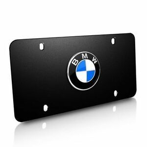BMW MARQUE PLATES - BLACK STAINLESS STEEL - BMW (82-12-1-470-313)