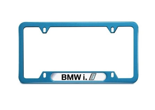 BMW i BLUE NAMEPLATE FRAME - BMW (82-12-2-357-928)