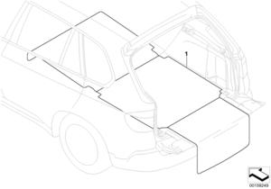 BMW LOAD AREA TURNING MAT - BMW (51-47-2-158-425)