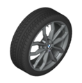 BMW M PERFORMANCE 18 INCH STYLE 711M COLD WEATHER WHEEL & TIRE - BMW (36-11-0-003-045)