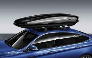 520 LITER ROOF BOX, LOCKABLE - BLACK WITH SILVER ACCENT AND ROUNDEL - BMW (82-73-2-406-459)
