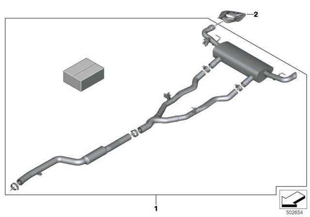 BMW M PERFORMANCE EXHAUST SYSTEM - 40i ENGINE - BMW (18-30-2-458-780)