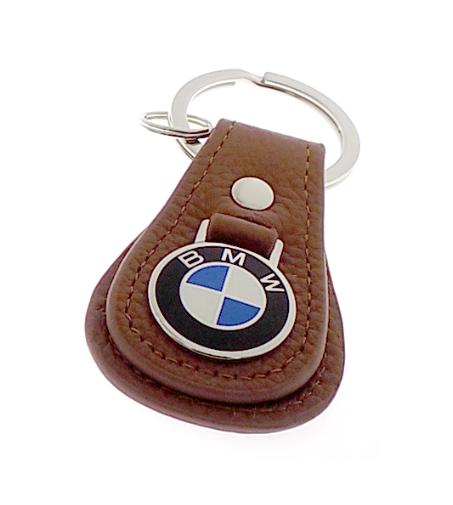 BMW LEATHER TEARDROP KEYCHAIN - TAN - BMW (80-23-0-408-542)