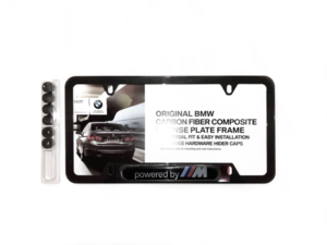 "BMW ""POWERED BY M"" CARBON FIBER LICENSE PLATE FRAME - BMW (82-12-2-433-224)"