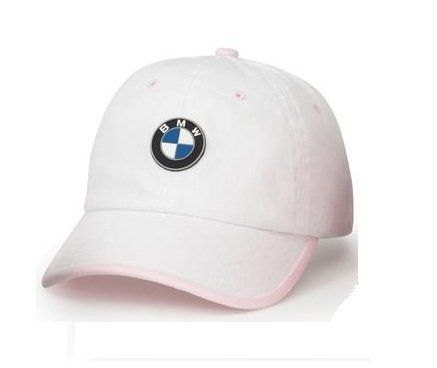 BMW KIDS' CHINO CAP - WHITE/PINK - BMW (80-90-2-311-870)