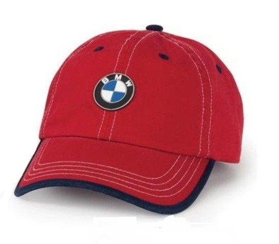 BMW KIDS' CHINO CAP - RED/NAVY - BMW (80-90-2-311-868)