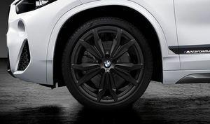 BMW M PERFORMANCE 20 LIGHT ALLOY WHEEL SET STYLE 717M - MATTE BLACK - BMW (36-11-2-459-622)