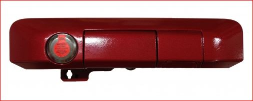 PopnLock's  Tailgate Lock 2009-2015 Tacoma Codeable Lock BOLT®  BARCELONA RED 3R3 - Custom (PL5401)