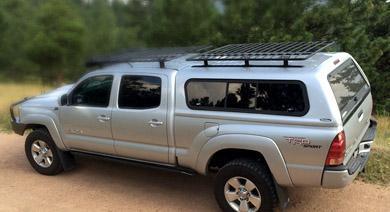 BAJARACK  Universal basket Utility (Flat) Rack for track system on camper shells, NO wind deflector.