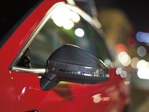 Exterior carbon fiber mirror caps without Audi Side Assist - Audi (8W0-072-530-3Q0)