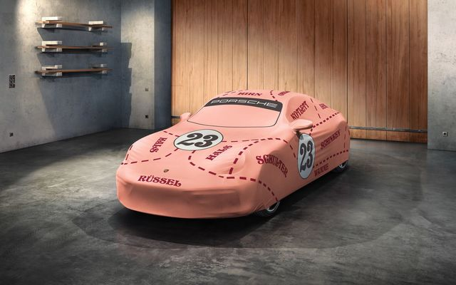 "992 Indoor Car Cover  ""Pink Pig"" - Porsche (992-044-012-15)"