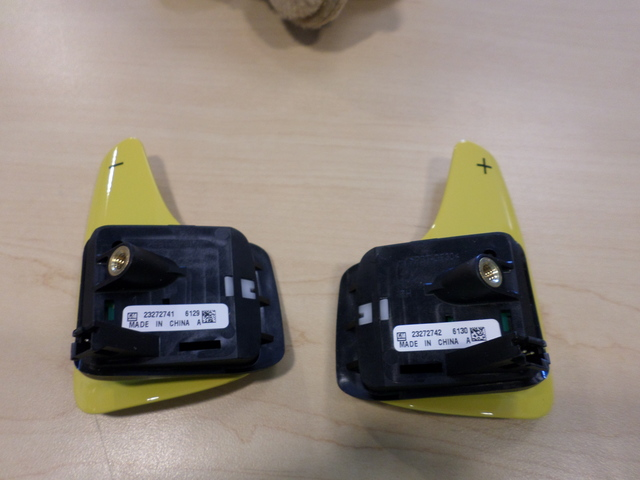 YELLOW AUTO TRANS PADDLE DOWNSHIFT & UPSHIFT (LEFT & RIGHT) SWITCH - GM - GM (2327274123272742)