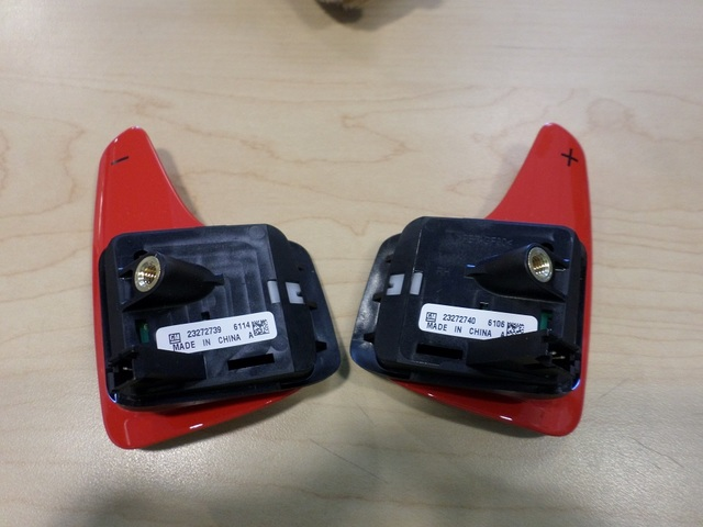RED AUTO TRANS PADDLE DOWNSHIFT & UPSHIFT SWITCH (RIGHT & LEFT) - GM (23272739 & 23272740) - GM (2327273923272740)