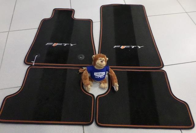 2017 Camaro 50th Anniversary Premium Carpet Floor Mat 23378911 Orange Binding OE