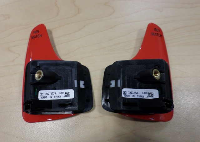 RED MANUAL TRANS PADDLE REV MATCH SWITCH PAIR  (RIGHT & LEFT) - GM (23272735 & 23272736) - GM (23272735-23272736)