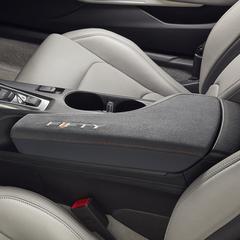 Gray Armrest W/ Orange Stitching W/ Leather Bottom & Cloth Top - GM (84092717)