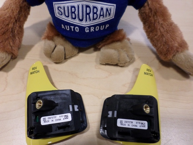 YELLOW MANUAL TRANS PADDLE REV MATCH SWITCH PAIR (RIGHT & LEFT) - GM (23272737,23272738) - GM (23272737-23272738)