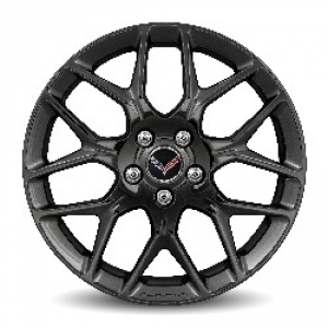 20X10 Inch Rear Wheel (5YX) - Painted Gloss Black w/ Milled Logo (Not for Z06) - GM (23246355)