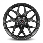 19X8.5 Inch Front Wheel (5YX) - Painted Gloss Black (Not for Z06) - GM (23334934)