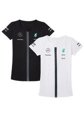 Women's Mercedes-AMG Petronas F1 team t-shirt (White) (Large) - Mercedes-Benz (MBL-101-WH-LG)