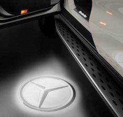 Led Projectors - Mercedes Star - Transparent - Mercedes-Benz (213-820-45-03)