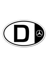 Oval car magnet - Mercedes-Benz (MHV-100)