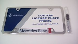 License Frame, Polished Stainless Steel - Mercedes-Benz (Q-6-88-0086)